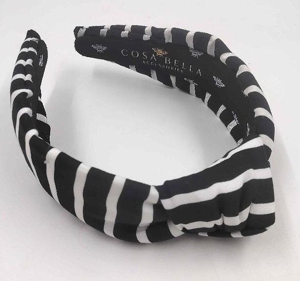 Black & White Striped Headband