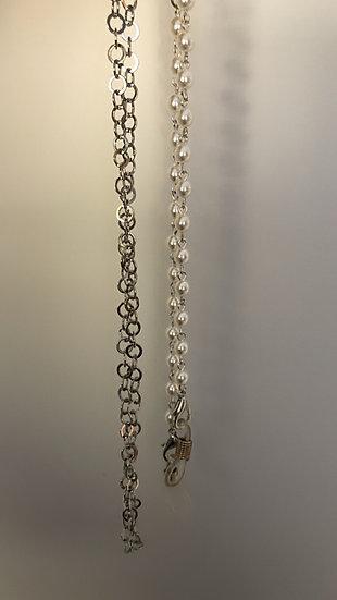 Pearl & Silver Sunglass Chain