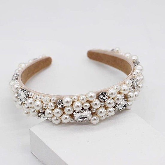 Pearl and Rhinestone Headband