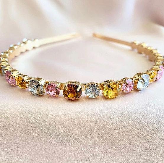 Dainty Rainbow Crystal Headband