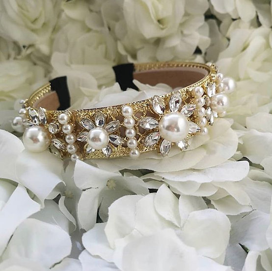So Daisy- Crystal Embellished Headband