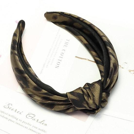 So Catty- Satin Leopard Headband