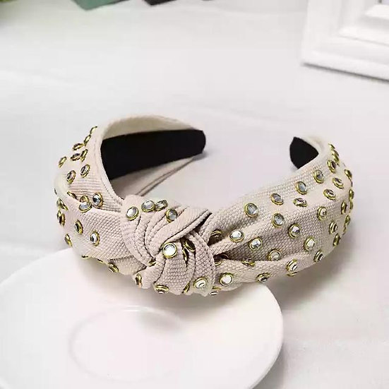 Woven Headband with Crystals