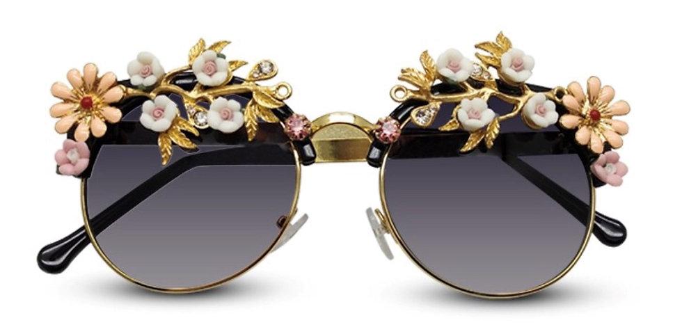 Floral Embellished Sunglasses