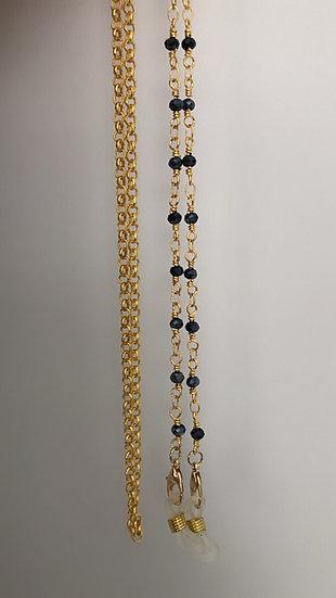 Sunglass Chain- Gunmetal and Gold