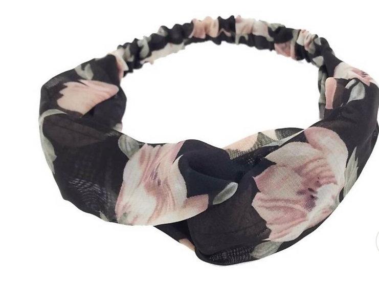 Floral organza Headwrap