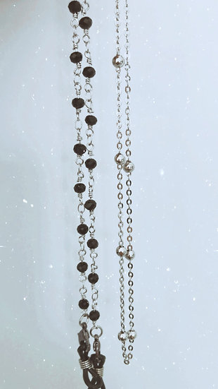 Sunglass Chain- Black and Silver