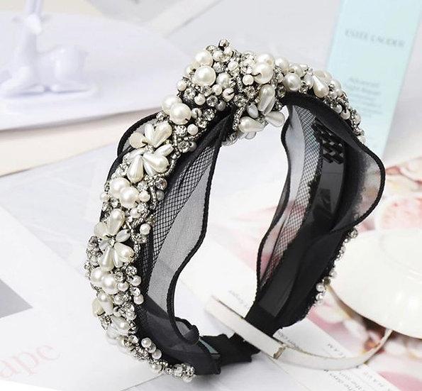 So Chic- Pearl Beaded Headband