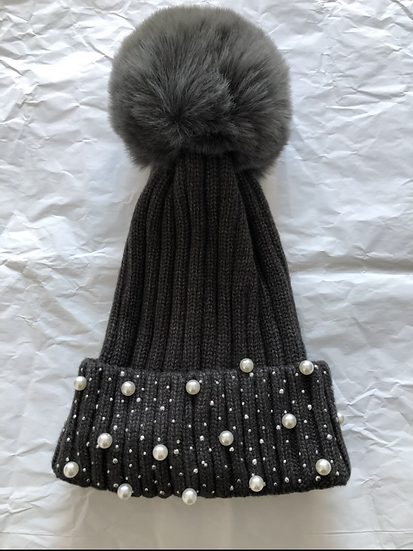 Pearl Beaded Winter Hat