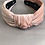 Thumbnail: Blush Luxe Velvet Top Knot Headband