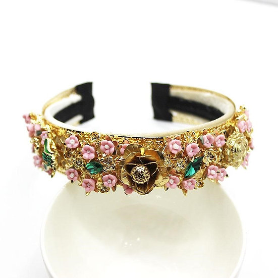 So Dolce- Romantic Floral Headband