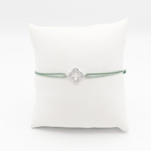 Armband mit Glücksklee in Silber