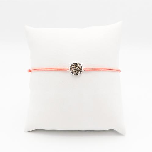 Armband mit dem Symbol für Wasser und Bewegung in Silber