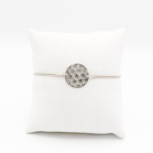 Armband Blume des Lebens in Silber