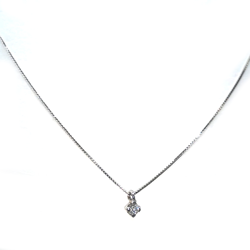 Halskette 18Kt Weißgold mit mini Brilliant