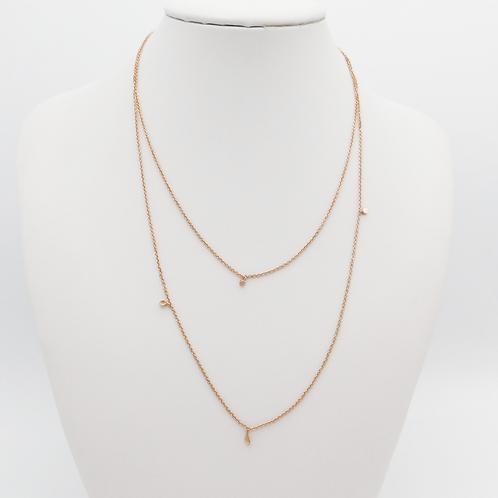 lange Halskette in Roségold