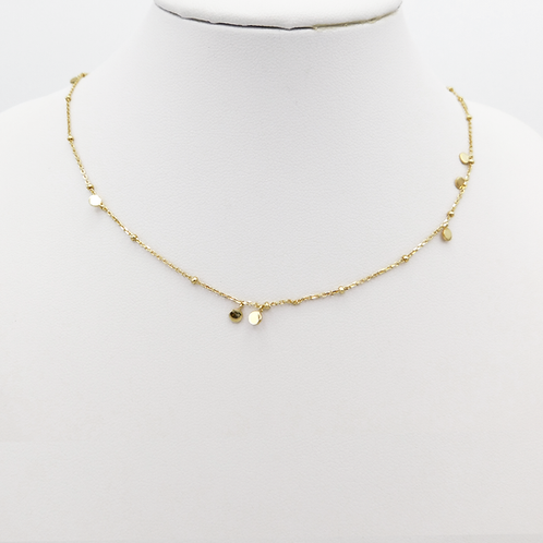 Zarte Halskette in Gelbgold