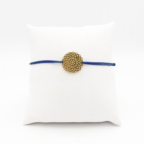 Armband mit großem Mandala in Gelbgold