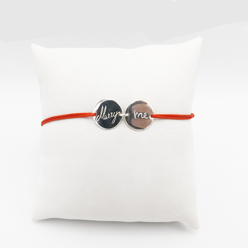"""""""Marry Me"""" Armband in Silber"""