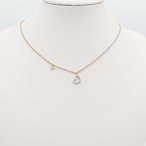 Halskette 18 Kt Rosé und Weißgold mit Brillianten