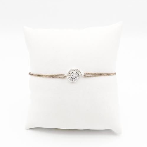 Armband mit kleiner Schnecke in Silber