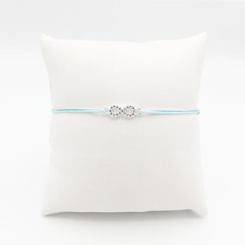Armband Silbernes Unendlichkeitszeichen mit Zirkonia