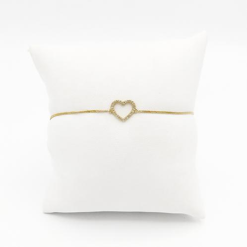 Armband Herzchen14 Kt Gelbgold mit Brillianten
