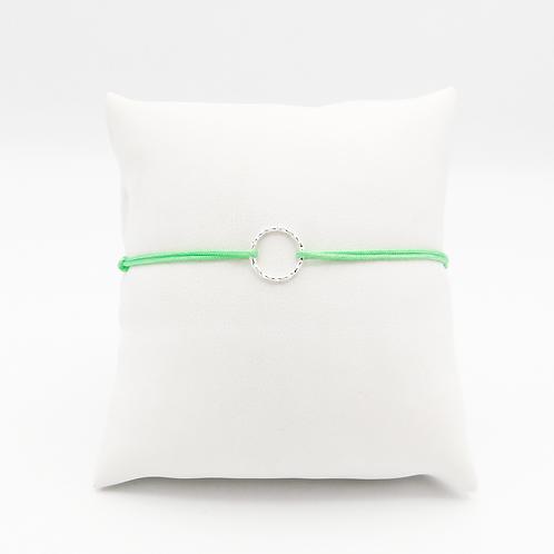 Armband mit kleinem Kreis, diamantiert, in Silber