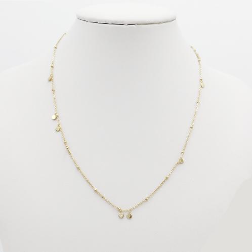 lange Halskette in Gelbgold