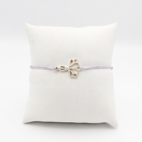 Armband mit Herzblüte in Silber