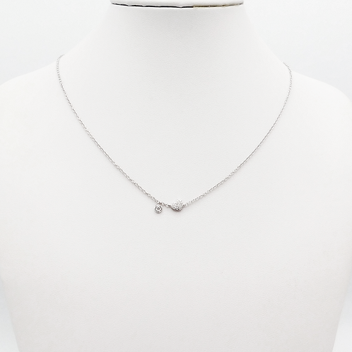 Halskette 18 Kt Weißgold mit Brillianten