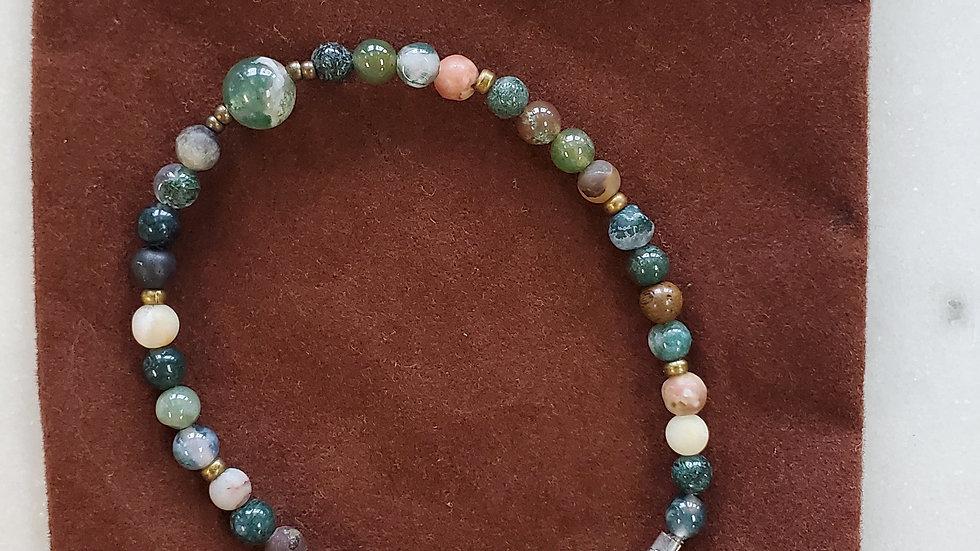Handmade Beaded Agate Bracelet