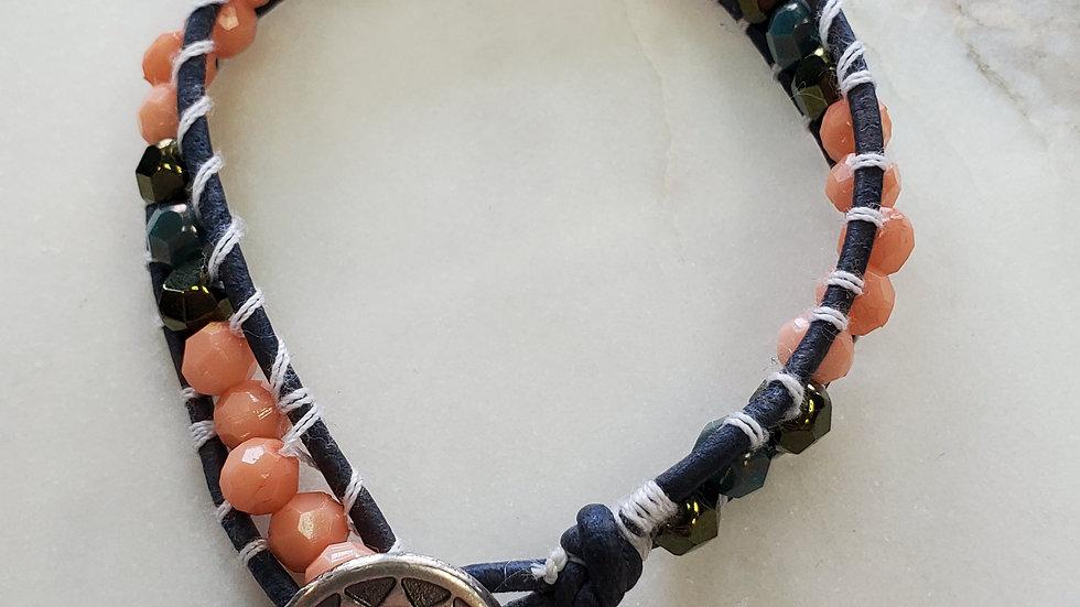 Handmade One Strap Wrap Bracelet