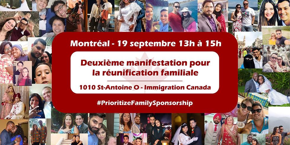 Montréal Manifestation pour la réunification familiale