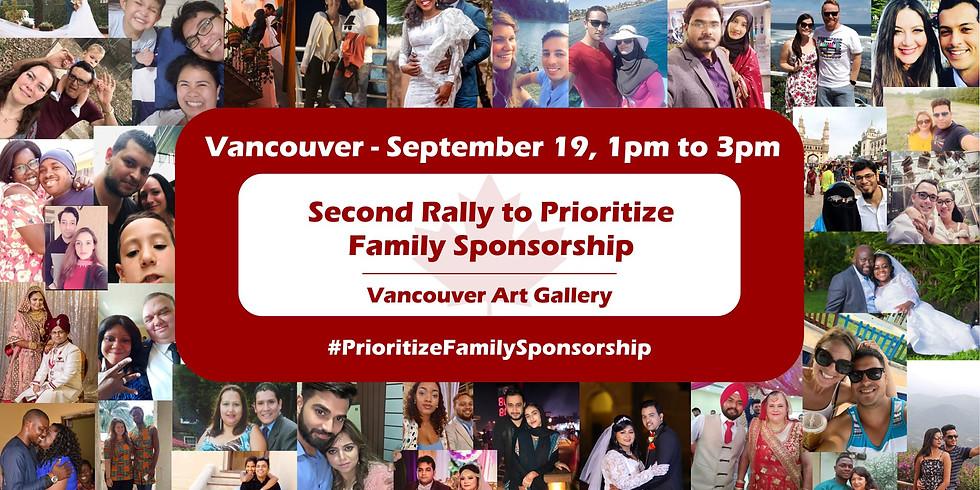 Vancouver Rally to Prioritize Family Sponsorship