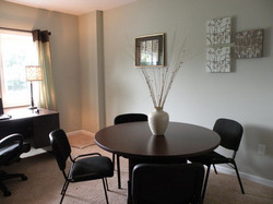 dining room with decorations
