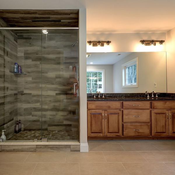 Custom Bathroom Design with shower and vanity