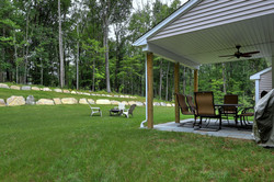 3800 sq ft. colonial house porch