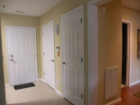 front entrance to apartment