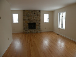 remodeled living room with fireplace