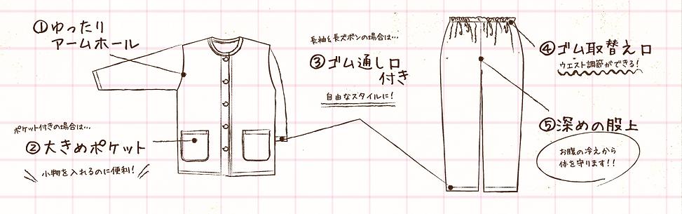 こだわりのゆったりラインのデザイン