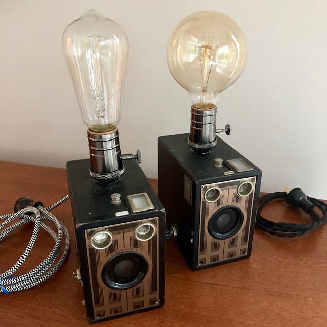 Simple box camera lamps. They have been