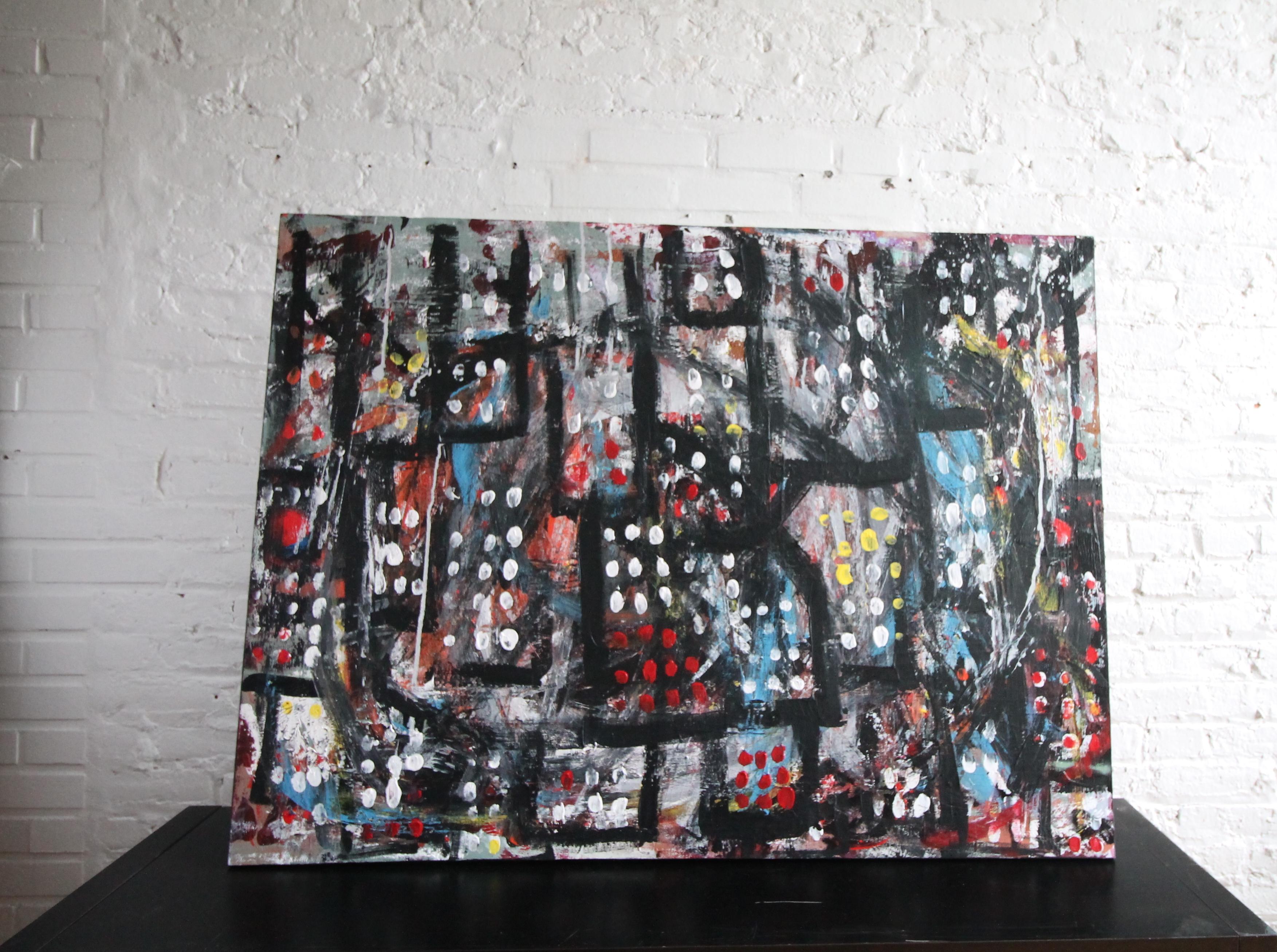 external influence (2015) 24x36 acrylic and spray paint  .JPG