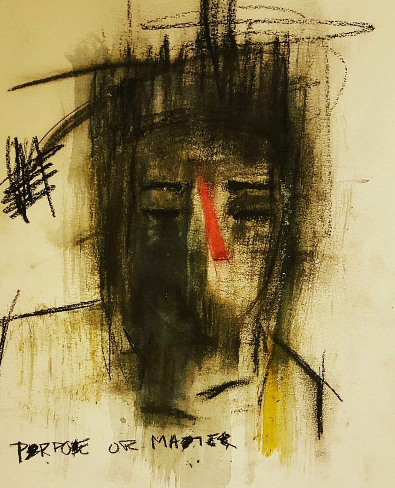MORPHISM . charcoal, watercolor and pastels. 11x15 paper ITEM 102