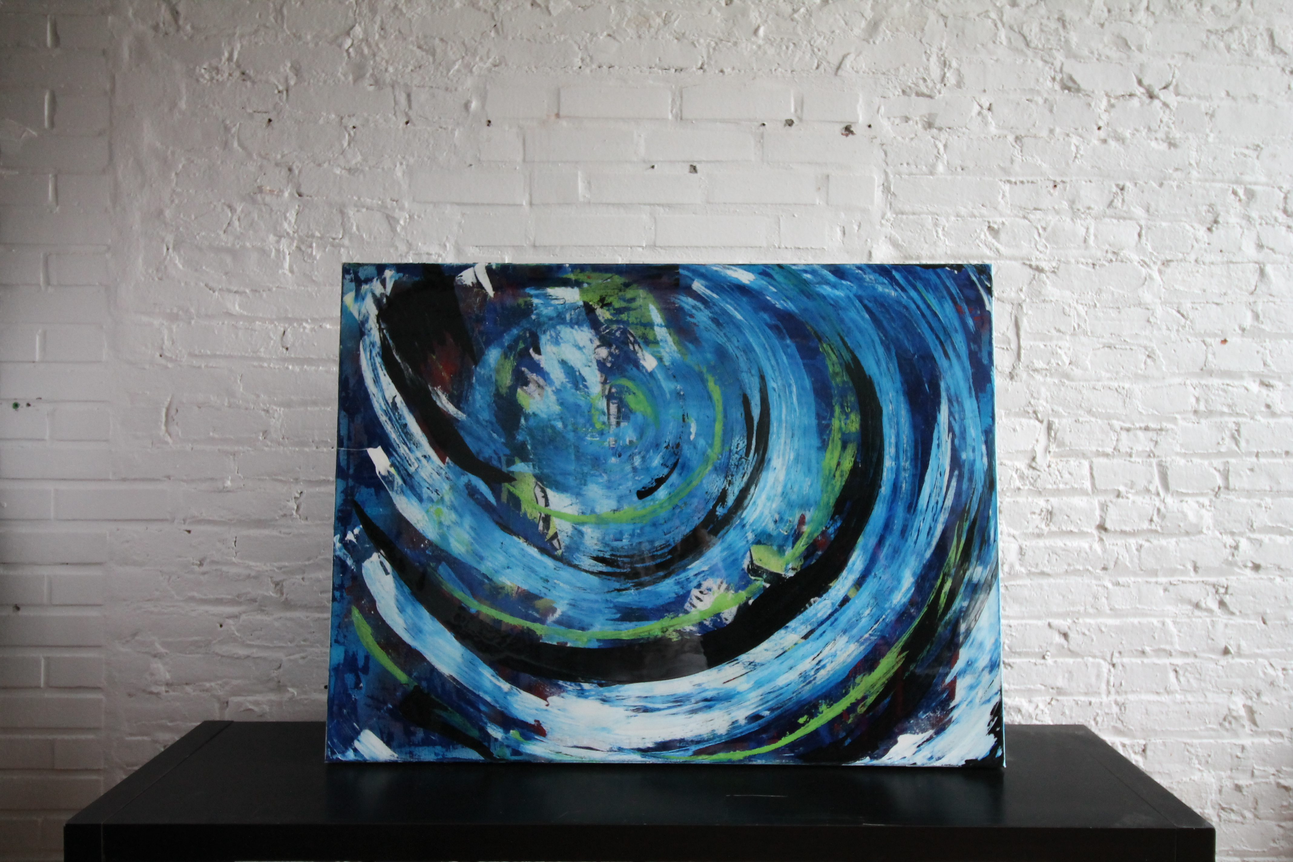 eclectic wave (2014) 36x48 acrylic and resin .JPG
