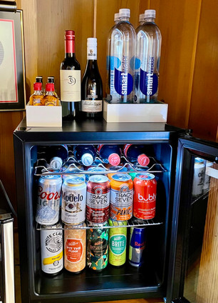Fully Stocked Hand Curated Craft Mini Bars - - Grand Pine Cabins Wrightwood Hotel