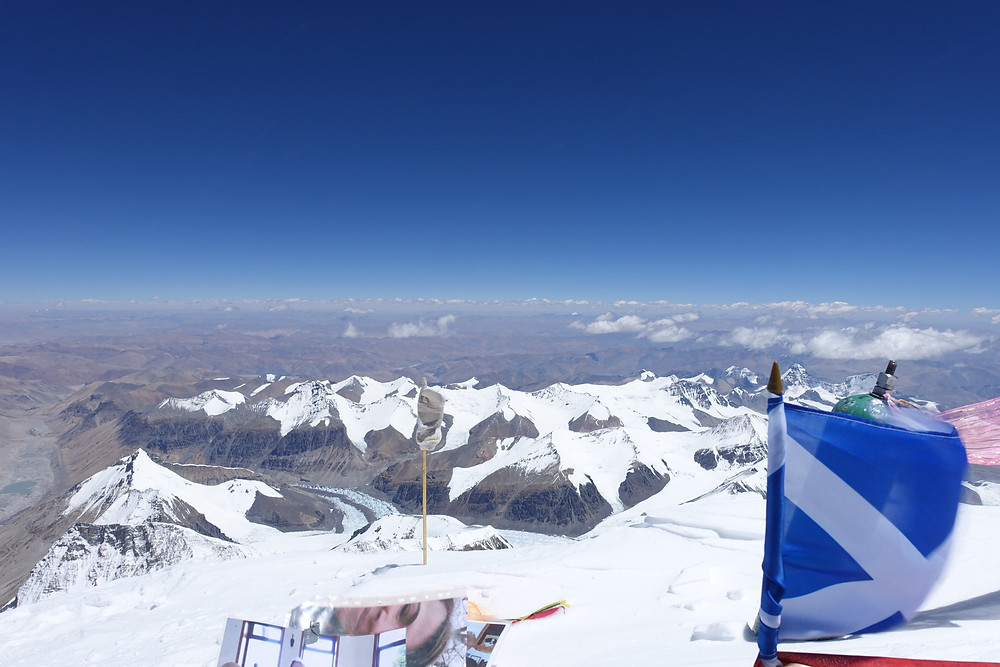 View from Summit - over to Tibet