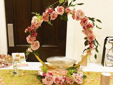 Bridal Shower Decor: Flower Hoop Centrepiece