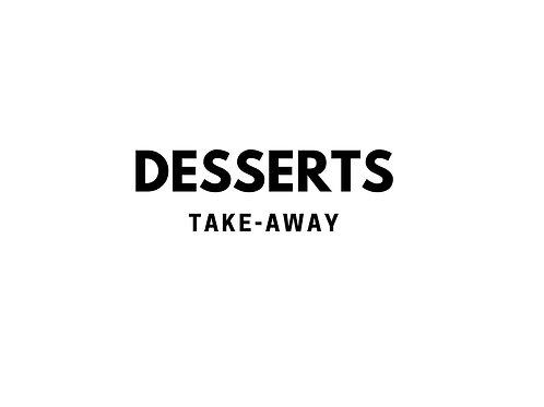 Desserts take-away