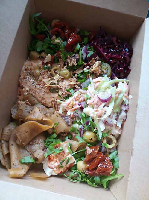Kebab box and pita bread